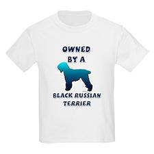 Black Russian Silhouette Kids T-Shirt
