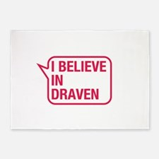 I Believe In Draven 5'x7'Area Rug