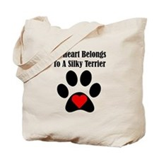 My Heart Belongs To A Silky Terrier Tote Bag