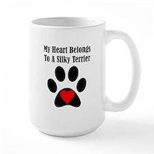 My Heart Belongs To A Silky Terrier Mug