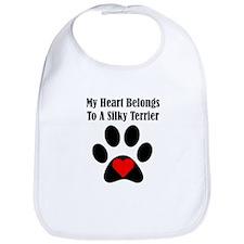 My Heart Belongs To A Silky Terrier Bib