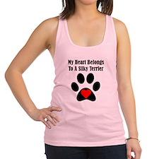 My Heart Belongs To A Silky Terrier Racerback Tank