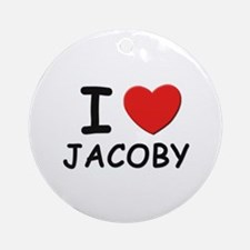 I love Jacoby Ornament (Round)
