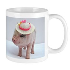 Micro pig wearing Summer hat Small Mug