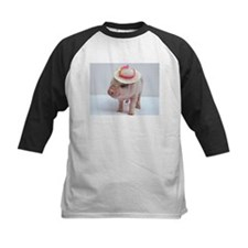 Micro pig wearing Summer hat Baseball Jersey
