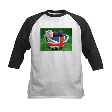 Tea Cup Piggies Baseball Jersey