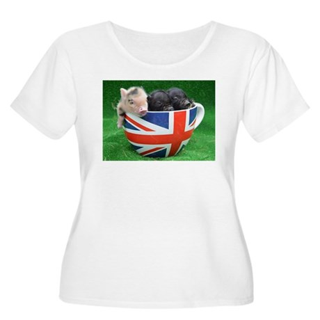 Tea Cup Piggies Plus Size T-Shirt