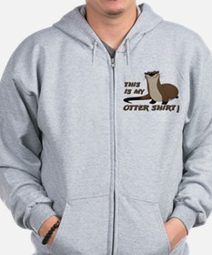This Is My Otter Shirt Funny Zip Hoodie