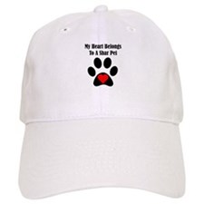 My Heart Belongs To A Shar Pei Baseball Cap