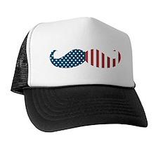 Patriotic Mustache Trucker Hat