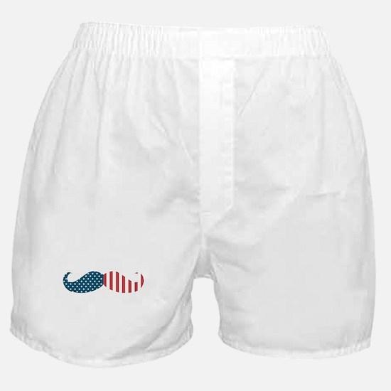 Patriotic Mustache Boxer Shorts