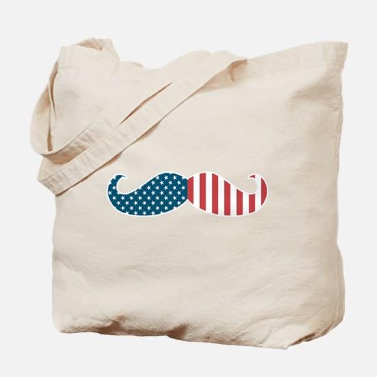 Patriotic Mustache Tote Bag