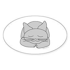 Sleeping Gray Cat Decal