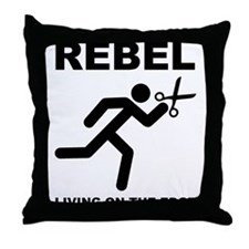Running With Scissors Rebel Funny Throw Pillow