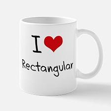 I Love Rectangular Mug