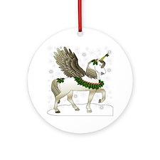 Holly Pegacorn! Winter Ornament (Round)