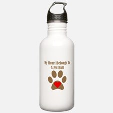 My Heart Belongs To A Pit Bull Sports Water Bottle