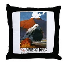 Empire State Express Railroad Travel Throw Pillow