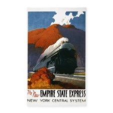 Empire State Express Railroad Travel 3'x5' Area Ru