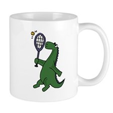 Dinosaur Playing Tennis Mug