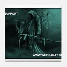 Grim Reaper support whosarat.com Tile Coaster