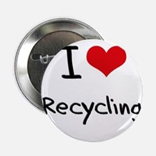 "I Love Recycling 2.25"" Button"