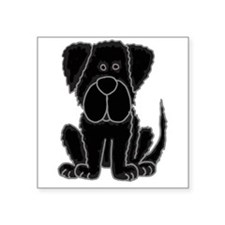Black Newfoundland Dog Cartoon Sticker