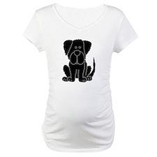 Black Newfoundland Dog Cartoon Shirt