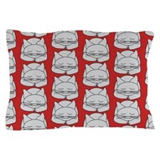 Gray Cat Pattern Pillow Case