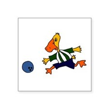 Funny Duck Bowling Sticker