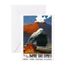 Empire State Express Railroad Travel Greeting Card