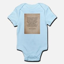 Alexis de Tocqueville Quote Body Suit