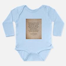 Alexis de Tocqueville Quote Body Suit