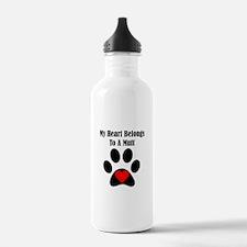 My Heart Belongs To A Mutt Sports Water Bottle