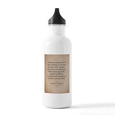 Alexis de Tocqueville Quote Water Bottle