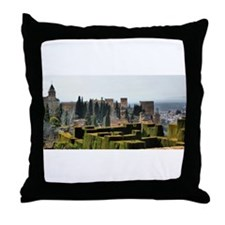 The Alhambra palace in Spain Throw Pillow