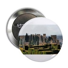 """The Alhambra palace in Spain 2.25"""" Button"""