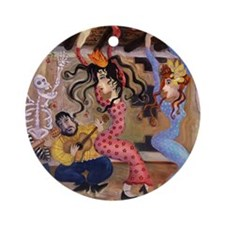 """Flamenco at El Farol"" Ornament (Round)"