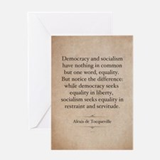 Alexis de Tocqueville Quote Greeting Card