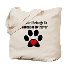 My Heart Belongs To A Labrador Retriever Tote Bag