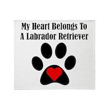 My Heart Belongs To A Labrador Retriever Throw Bla
