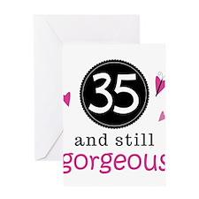 Cute 35th Birthday design has butterflies and hear