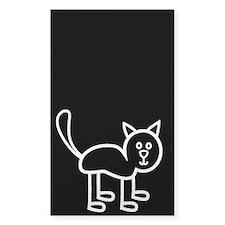 Cat - white Bumper Stickers