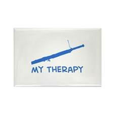 Bassoon my therapy Rectangle Magnet
