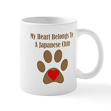 My Heart Belongs To A Japanese Chin Small Mug