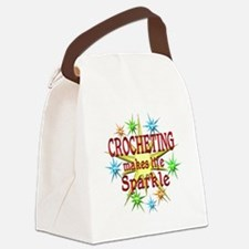 Crocheting Sparkles Canvas Lunch Bag