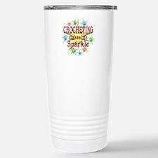 Crocheting Sparkles Travel Mug