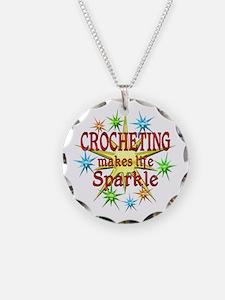 Crocheting Sparkles Necklace