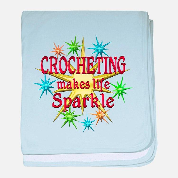 Crocheting Sparkles baby blanket