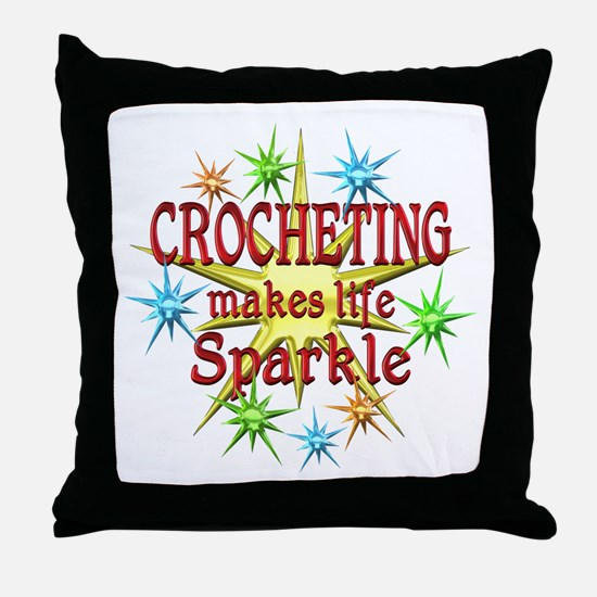 Crocheting Sparkles Throw Pillow